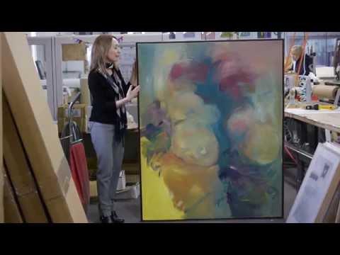 Preparing Large Canvas for Framing - Wood Canvas Floater Frame- American Frame