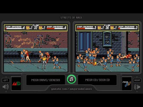 Streets of Rage (Sega Genesis vs Sega Cd) Side by Side Comparison