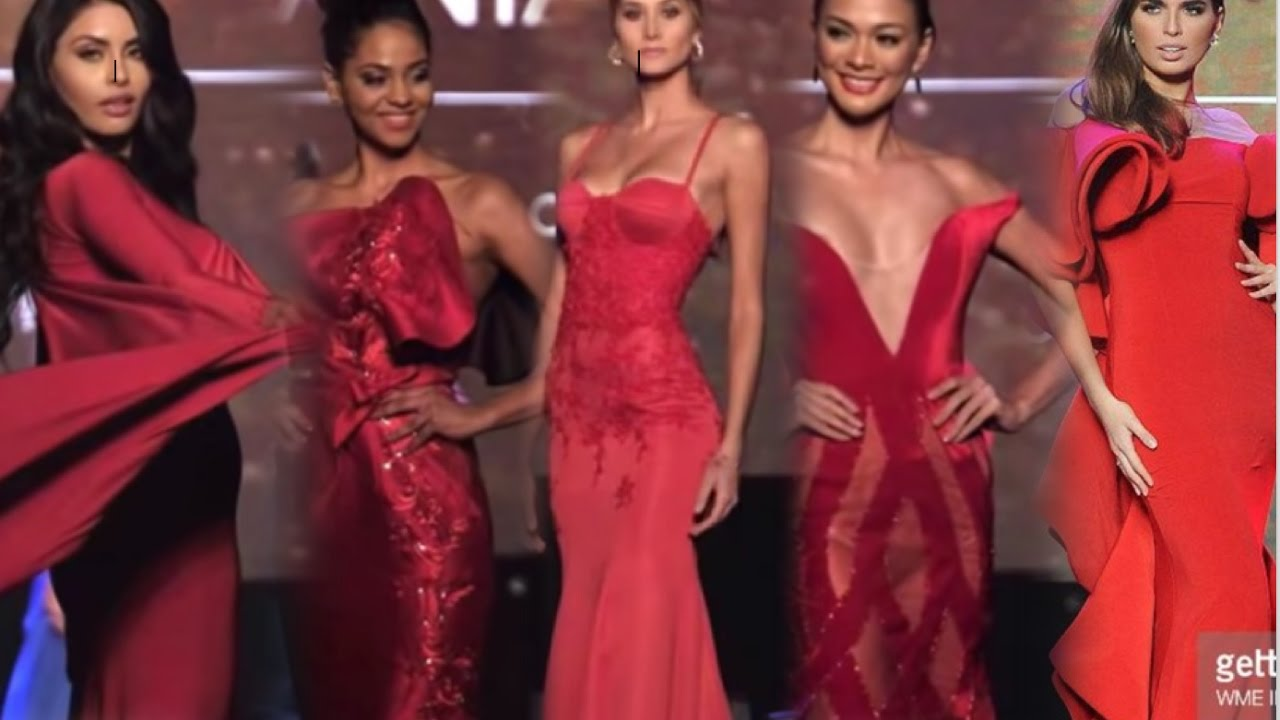 Miss Universe 2016/2017 - EVENING GOWN Miss Venezuela & Miss Indonesia &  Miss Mexico FULL HD