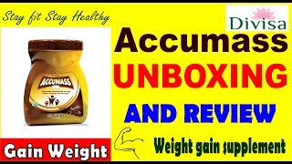 Accumass Unboxing and Review || Gain weight fast and stay fit ||