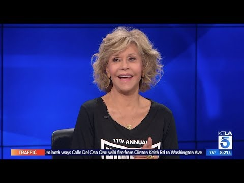 """Jane Fonda Invites Viewers to Join Her at the """"Homeboy 5K"""""""