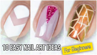 10 Easy Nail Design Ideas For beginners | Nail Art Compilation