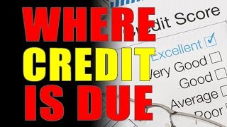 9-22-2018 - Where Credit Is Due