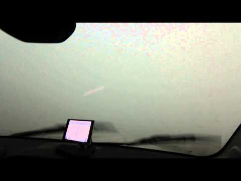 Geocaching in Kansas... Driving through a storm