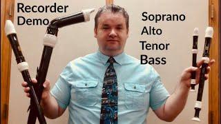 RECORDER DEMO Soprano Alto Tenor Bass Yamaha YRA-302B III