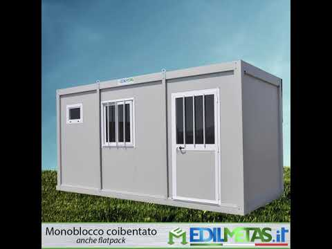 Prefab container office insulated 20ft 6m modular flatpack house collapsible expandable