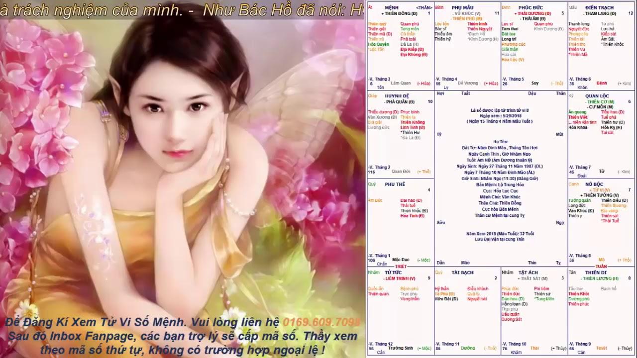 Tử Vi Số Mệnh   Lá Số Nữ tuổi Mão Xinh gái ăn nói nhẹ nhàng, lấy chồng Giầu Sang !!