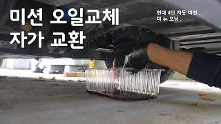 미션 오일 교환 (드레인 자가교체) - 더뉴모닝/현대4…