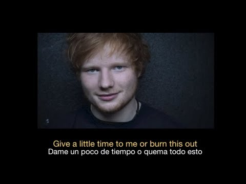 Ed Sheeran Give Me Love Hd Sub Espanol Ingles Youtube