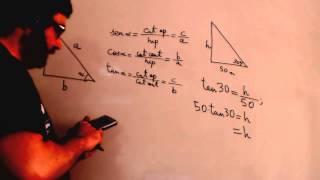 Razones trigonometricas en triangulos rectangulos Matematicas 4º ESO Academia Usero