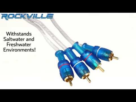 Rockville RMWK4 4 AWG Waterproof Marine/Boat Amplifier Installation Wire Kit