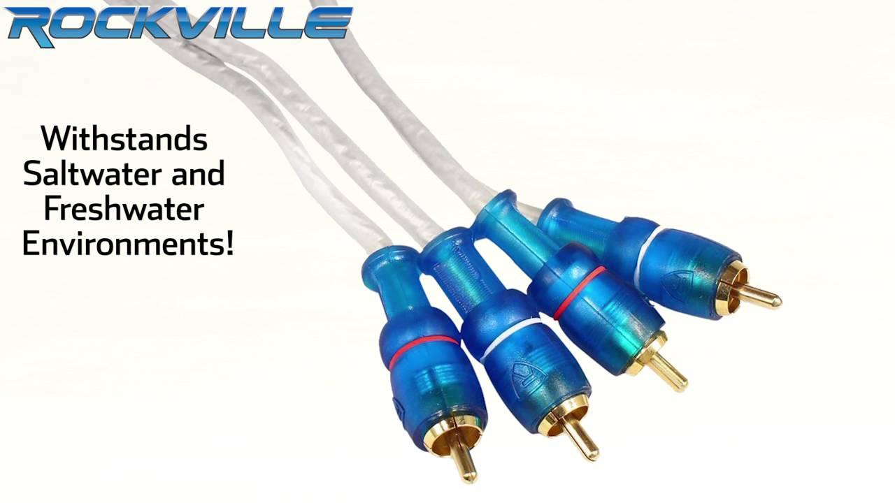 Rockville RMWK4 4 AWG Waterproof Marine/Boat Amplifier Installation ...