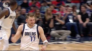 Luka Doncic Drains Ridiculous Step-Back 3-Pointer Shot