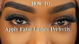 How to: Easiest way to apply false lashes on VERY curly lashes *BEGINNER FRIENDLY*