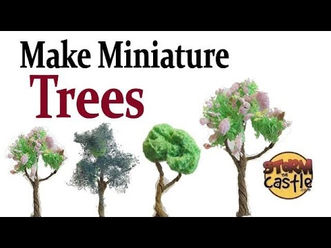 Make Miniature Trees Free With Paper And Sponge Youtube