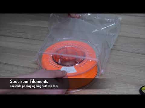 Spectrum Filaments - reusable packaging bag with zip lock