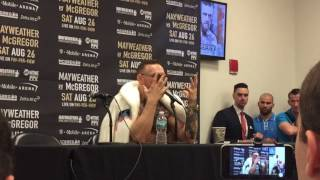 Conor McGregor FULL Post Wild Run In With Floyd Mayweather - esnews boxing