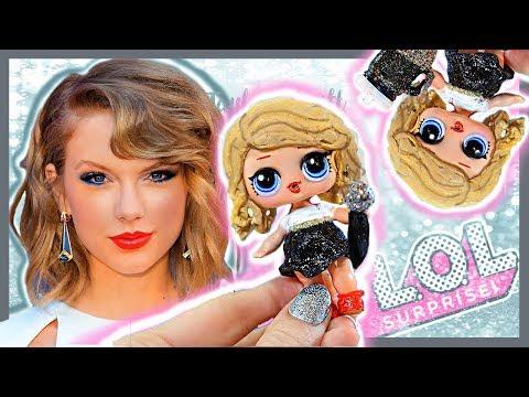 TAYLOR SWIFT 🎤 CUSTOM LOL Surprise Doll - DIY/Tutorial ❤️