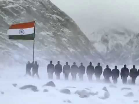 National Anthem Of India - The Siachen Glacier - Indian Army - Jana Gana Mana जन गण मन
