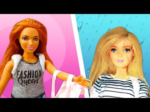Видео про куклы. Барби промокла под дождем! Как не простыть? Игры в игрушки