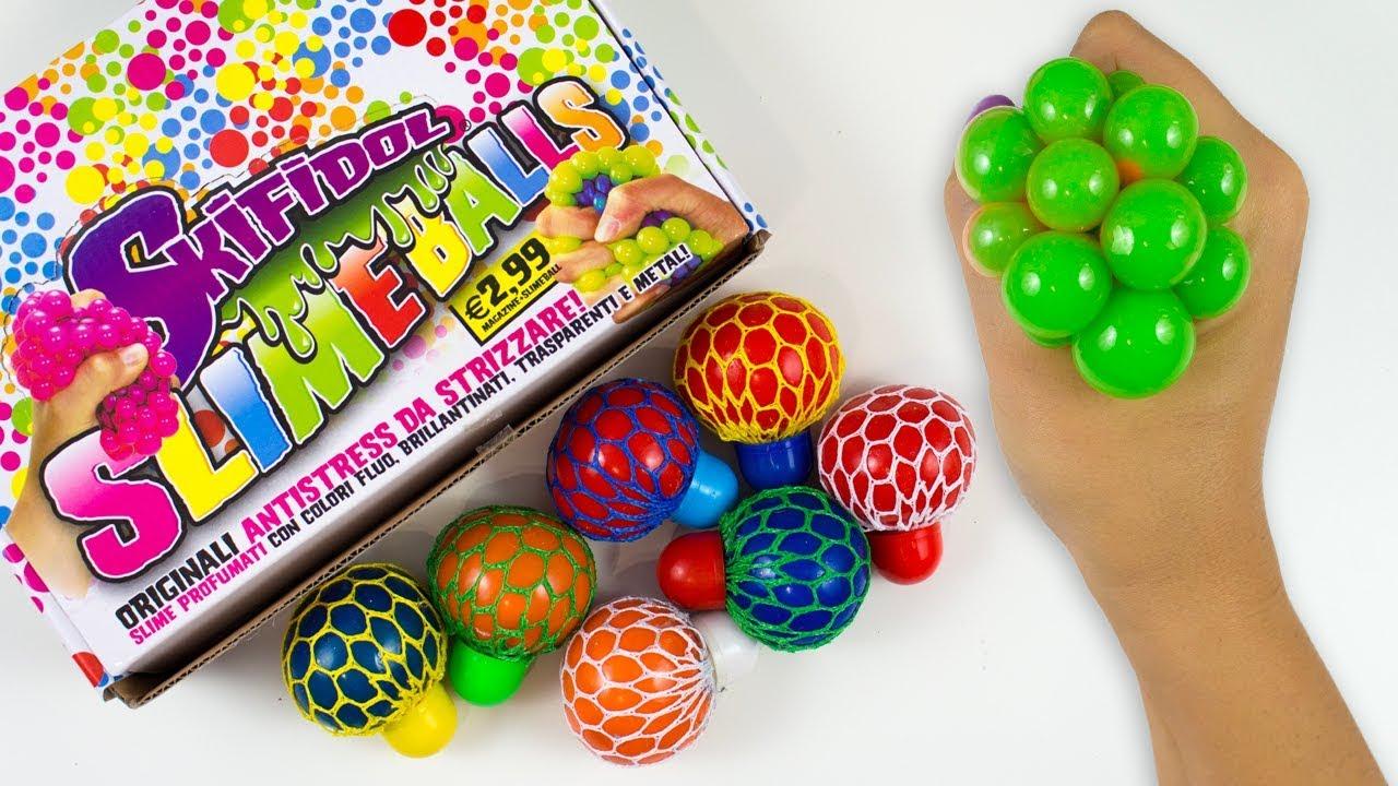 Squishy Slime Balls In Net Bag : Scopriamo le NUOVE SKIFIDOL SLIME BALLS + Estrazione GIVEAWAY SQUISHY BANGGOOD - YouTube