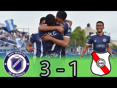 Primera C : SAN MARTÍN DE BURZACO 3 - 1 LUJÁN |