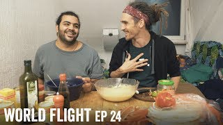 SYRIAN COOKING LESSON - World Flight Episode 24