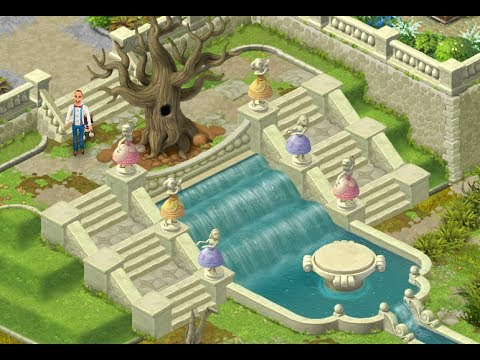 Gardenscapes New Acres Gameplay Story Playthrough Area 6 Day 1 And Day 2 New Waterfall Area