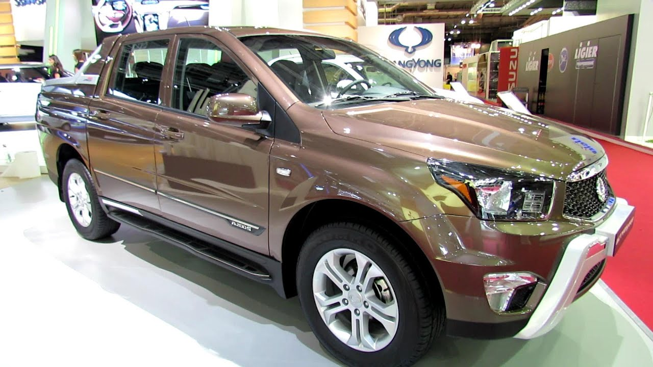 2013 ssang yong actyon sports exterior and interior walkaround 2012 paris auto show youtube. Black Bedroom Furniture Sets. Home Design Ideas