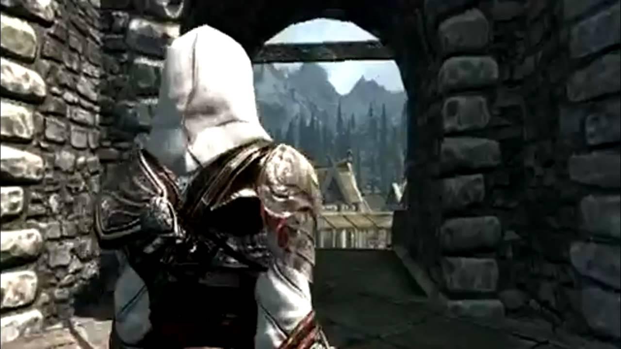 Skyrim Mod Ezio Armor De Assassin S Creed Lucas Ramos Youtube