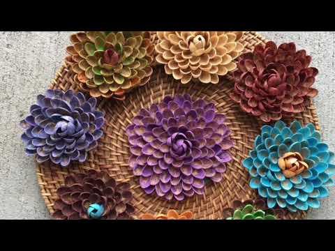 Gorgeous Pista Shells Flowers