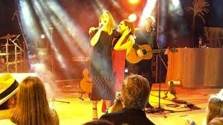 Melanie C sing 2 Become 1 with Victoria Beckham (at Amilla Fushi Maldives) 2017