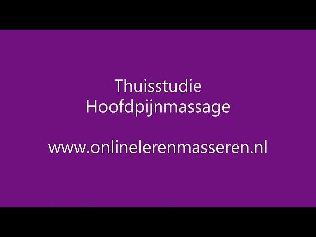 Thuisstudie Hoofdpijnmassage