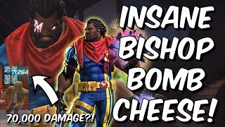 Insane Bishop Bomb Cheese Tactic! - 70,000 Instant SP3?!?! - Marvel Contest of Champions