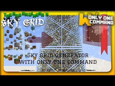 Minecraft - Sky Grid generator with only one command block (1 8