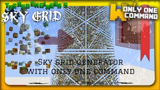 Minecraft - Sky Grid generator with only one command block (1.8)