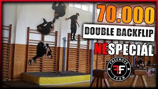 DOUBLEBACKFLIP ZA 70.000 ODBĚRATEL?! | [Parkour Workshop] | FREEMOVE