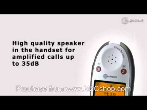 Amplicom PowerTel 500 Cordless Amplified Telephone