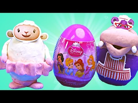 Видео, Clay Buddies Surprise Eggs Doc McStuffins Disney Princess Sofia The First Play Doh Disney Toys
