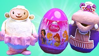 clay buddies surprise eggs doc mcstuffins disney princess sofia the first play doh disney toys
