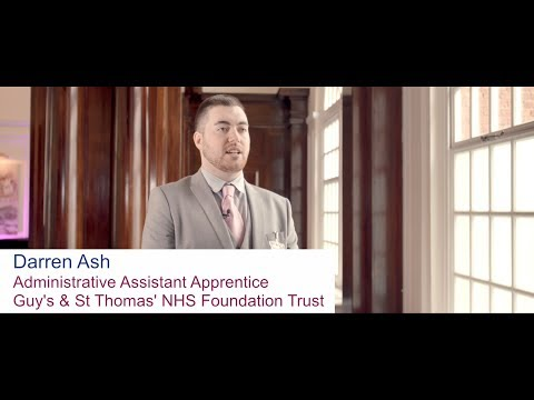 Darren Ash - Administrative Assistant Apprentice, Guys and St Thomas NHS Foundation Trust