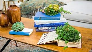 DIY Book Planter - Home & Family