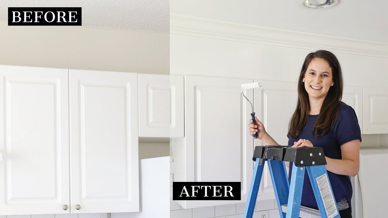 How to Enclose the Space Above Kitchen Cabinets   Angela Marie Made