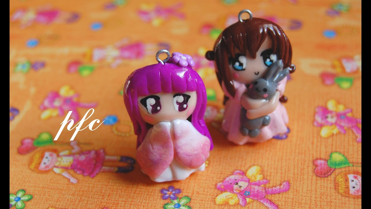 Chibi charms polymer clay charm update youtube baditri Images