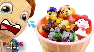 Paw Patrol Ice Cream Cups Surprise Eggs Preschool Skye