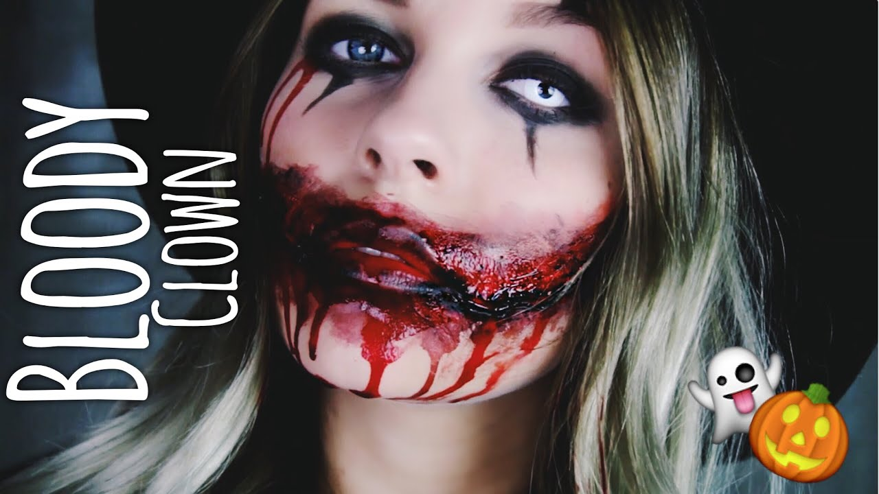 bloody clown halloween make up dagi bee youtube. Black Bedroom Furniture Sets. Home Design Ideas