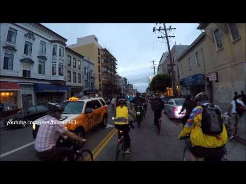 SF Critical Mass Raw August 28,2015 Broadway Tunnel Fisherman's Wharf