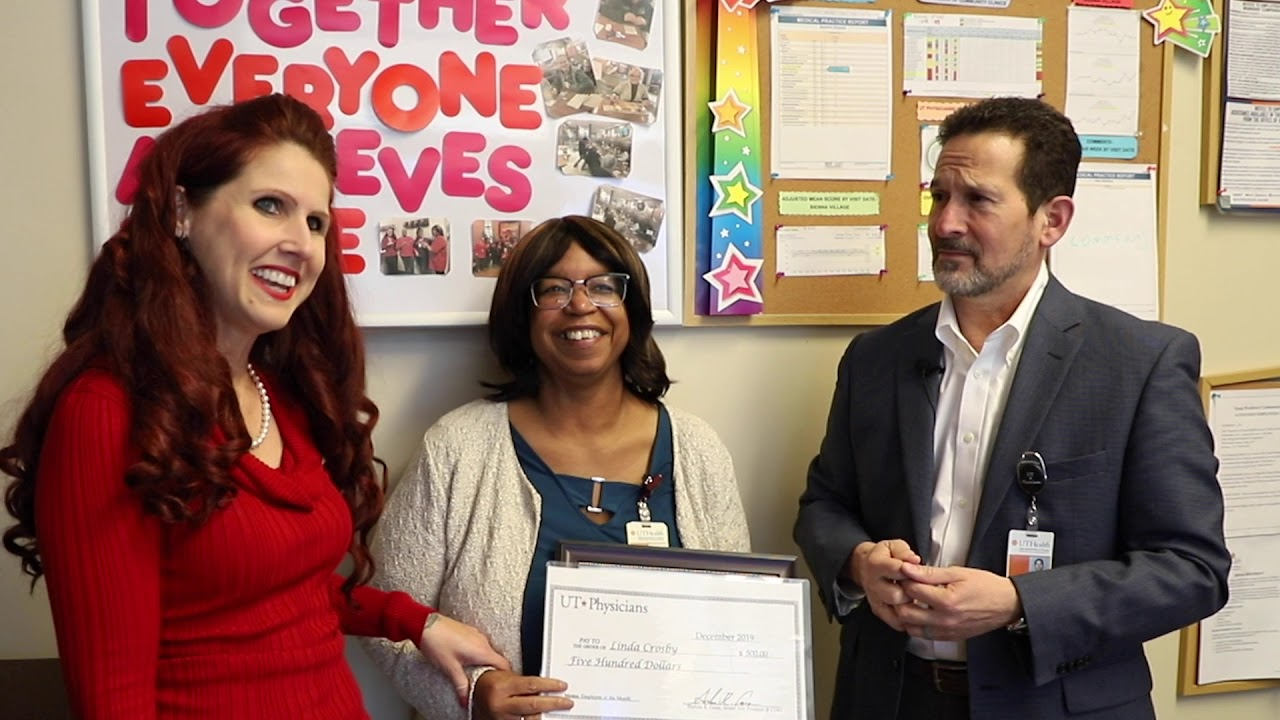UT Physicians - December 2019 Employee of the Month