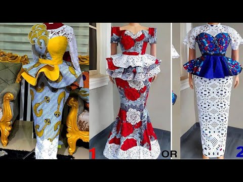 Elegant And Stunning Ankara Skirt And Blouse, 2020 Top Trending Ankara Styles