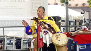 SF INDIAN MARKET 2019 - ROBERT TREE CODY PERFORMS ON SF PLAZA   -Hand Drum Song